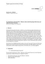 Bericht - Kanton Schwyz