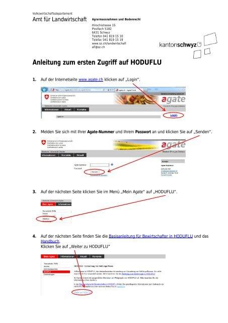 Anleitung zum ersten Zugriff auf HODUFLU