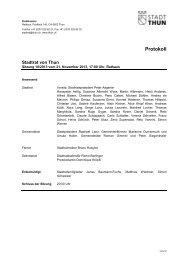 Protokoll - Thun