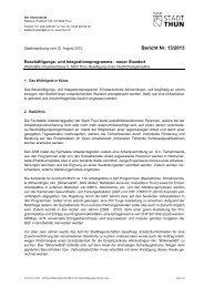Bericht Nr. 13/2013 - Thun