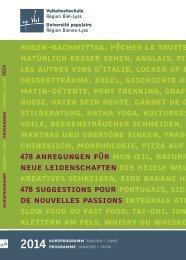 Kursprogramm Januar bis Juni - Volkshochschule Region Biel-Lyss