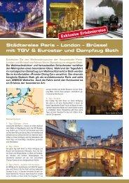 Städtereise Paris – London – Brüssel mit TGV & Eurostar und ...
