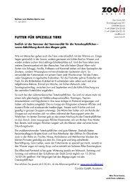 Futter für spezielle Tiere [PDF, 94.0 KB] - Zoo Zürich