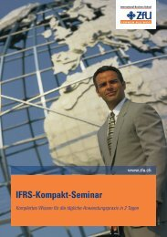 IFRS-Kompakt-Seminar - ZfU International Business School