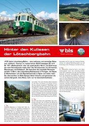 Hinter den Kulissen der Lötschbergbahn - Zermatt Rail Travel