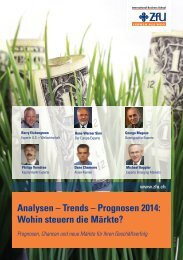 Analysen – Trends – Prognosen 2014 - ZfU International Business ...