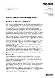 Lebensraum mit Herausforderungen [PDF, 60 KB] - Zoo Zürich