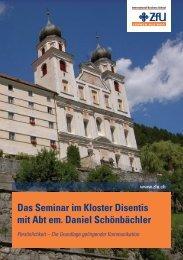 Das Seminar im Kloster Disentis mit Abt em. Daniel Schönbächler