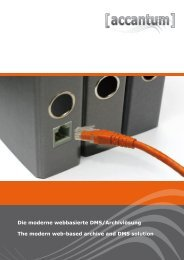 Die moderne webbasierte DMS/Archivlösung The ... - Acribit GmbH