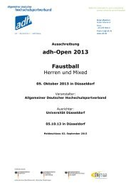Ausschreibung adh-Open 2013 Faustball - Allgemeiner Deutscher ...