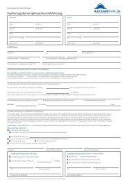Kaufvertrag über ein gebrauchtes Kraftfahrzeug - AdmiralDirekt.de
