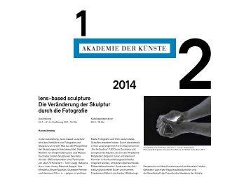 Veranstaltungsprogramm im pdf-Format - Akademie der Künste