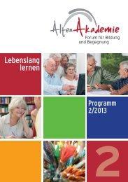 Programm der AltenAkademie - AltenAkademie Dortmund