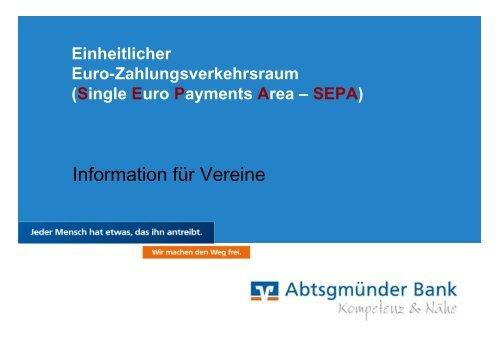 Präsentation für Vereine - Abtsgmünder Bank
