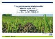 Ertragsentwicklung bei Getreide – was ist noch drin? - Amazone