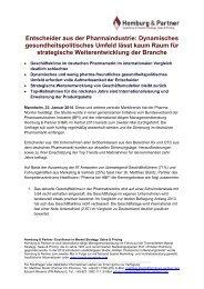 Entscheider aus der Pharmaindustrie - Homburg & Partner