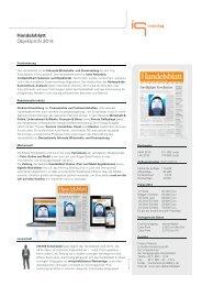 Handelsblatt Objektprofil 2014 - IQ media marketing
