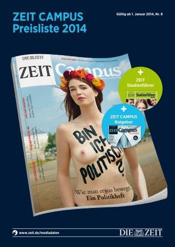 ZEIT CAMPUS - Mediadaten 2014 - IQ media marketing
