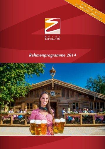 Rahmenprogramme 2014 - Hotel & Kongresszentrum Fulda