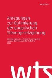 Anregungen zur Optimierung der ungarischen Steuergesetzgebung ...