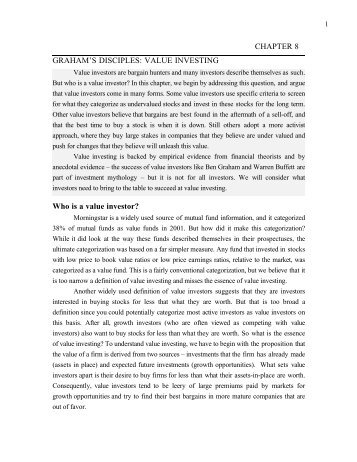 2003 01-03 Aswath Damodaran - Investment Philosophies, Chapter 8
