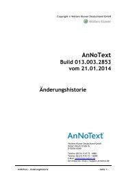 Änderungshistorie - AnNoText