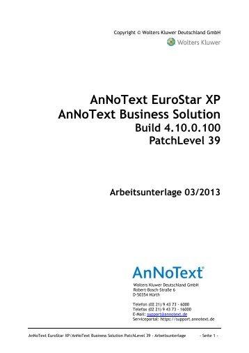 AnNoText EuroStar XP AnNoText Business Solution