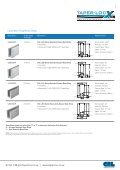 TAPER-LOC® - RIBA Product Selector - Page 7
