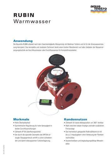 RUBIN Warmwasser - Aquametro AG