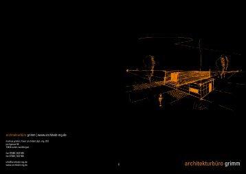 Baubroschüre beim Bautigerverlag 2013 - Architekturbüro Grimm