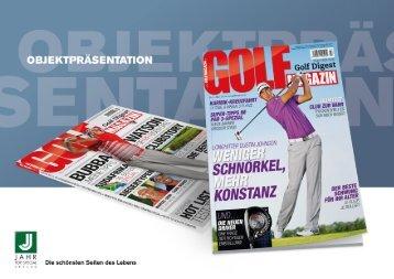 Objektpräsentation GOLF MAGAZIN - Jahr Top Special Verlag