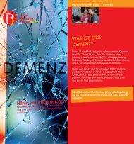 Patienteninformation | Demenz - Hauskrankenpflege Bauer
