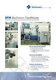 BFM FeedMaster (Prospekt) - Bachmann Engineering AG
