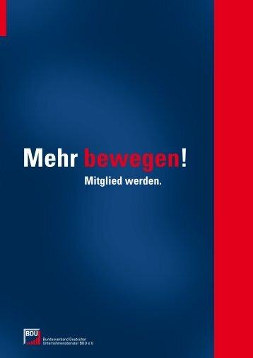 bewegen! - Bundesverband Deutscher Unternehmensberater BDU ...