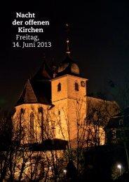 Nacht der offenen Kirchen Freitag, 14. Juni 2013 - Evangelische ...