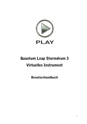 Quantum Leap Stormdrum 3 Handbuch - Best service