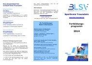 Bildungsprogramm 2014 - blsv