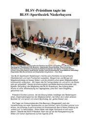 BLSV-Präsidium tagte im BLSV-Sportbezirk Niederbayern