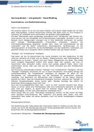 Gut koordiniert – viel gemerkt – Gerd Miehling - blsv