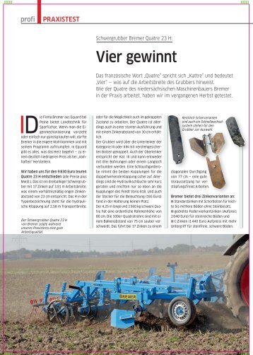 Vier gewinnt - Bremer Maschinenbau