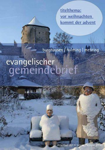 dez jan feb - Evangelisch-lutherische Kirche Burghausen