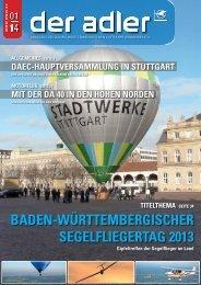 BADeN-WürtteMBerGIsCHer seGeLfLIeGertAG 2013