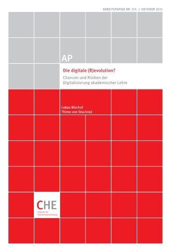 CHE AP 174 Digitalisierung der Lehre.pdf - Centrum für ...