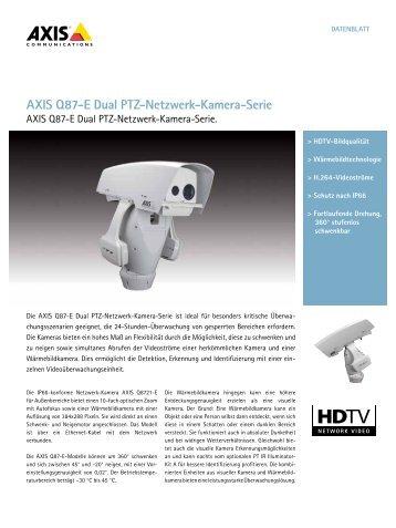AXIS Q87-E Dual PTZ-Netzwerk-Kamera-Serie - Data Components ...