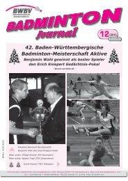 Heft 12/2013 - Baden - Württembergischer Badminton - Verband