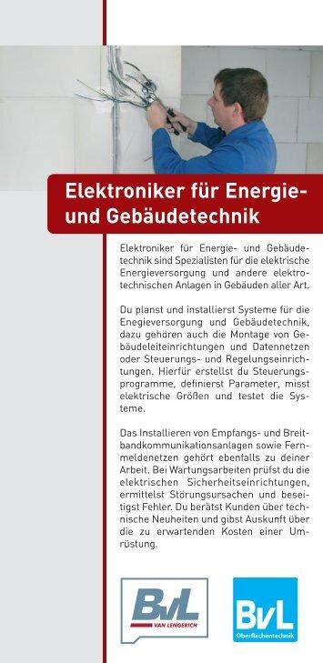 Elektroniker für Energie- und Gebäudetechnik - BvL Group