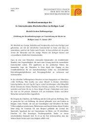Abschlusskommunique und Erklärung des 14. Internationalen ...