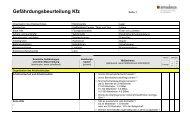 Gefährdungsbeurteilung Kfz - DeCon GmbH
