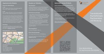 Transkulturelle Psychotherapie Psychoanalyse und Beratung - DGPT