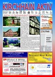 Ausgabe 5 Jahrgang 15 • Nr. 169 Mai 2013 Idyllen im Fachwerkdorf ...